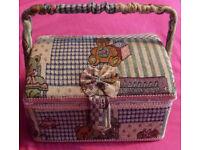 Sewing Box/Work Box/Basket (Sewing/Cross Stitch/Embroidery/Knitting/crafts)