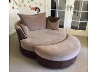 Large Cuddler Swivel Chair