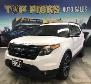 2014 Ford Explorer Sport, Dual Headrest DVD, Navi, Accident Free