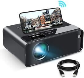 """1080P HD Portable Projector with 6500 Lux and 200"""" Display"""