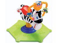 Fisher-Price Go Baby Go! Bounce & Spin Zebra