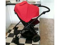 Mamas and papas Sola pram in red+ carseat