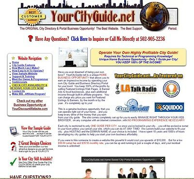 Local Business Directory & Portal Website for Sale