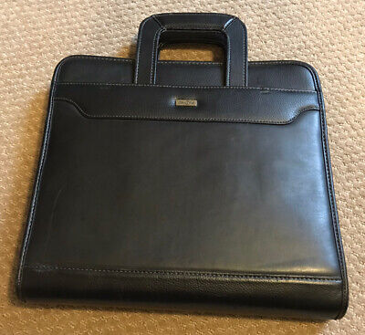 Franklin Covey Large Day One Black 3 Ring Zipper Plannerbinder Whandles