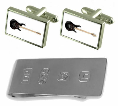 Electric Guitar Cufflinks & James Bond Money Clip