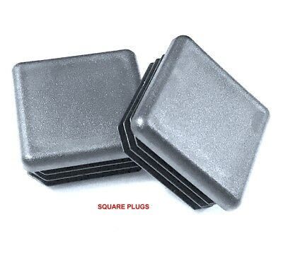 2-12 Square Multi Gauge Black Plastic Tubing Plugs End Caps 10 14 16 23 Ga