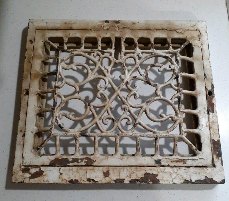 Antique Vintage Cast Iron Heat Vent Grate Victorian House Register ART DECO