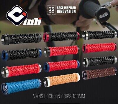 Bontrager Rhythm Thin Double MTB Lock-On  Grips //// Black//Red 130mm //// 22.2mm