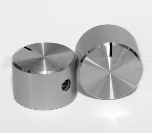 "(2X) NEW 18mm Aluminum Alloy Indicator Knob 1/4"" Shaft w/Set Screw USA SELLER!!!"