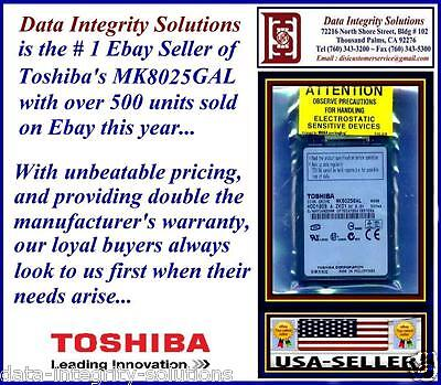 "80gb 1.8"" Macbook Air Zif Hard Drive Toshiba Mk8025gal Up..."