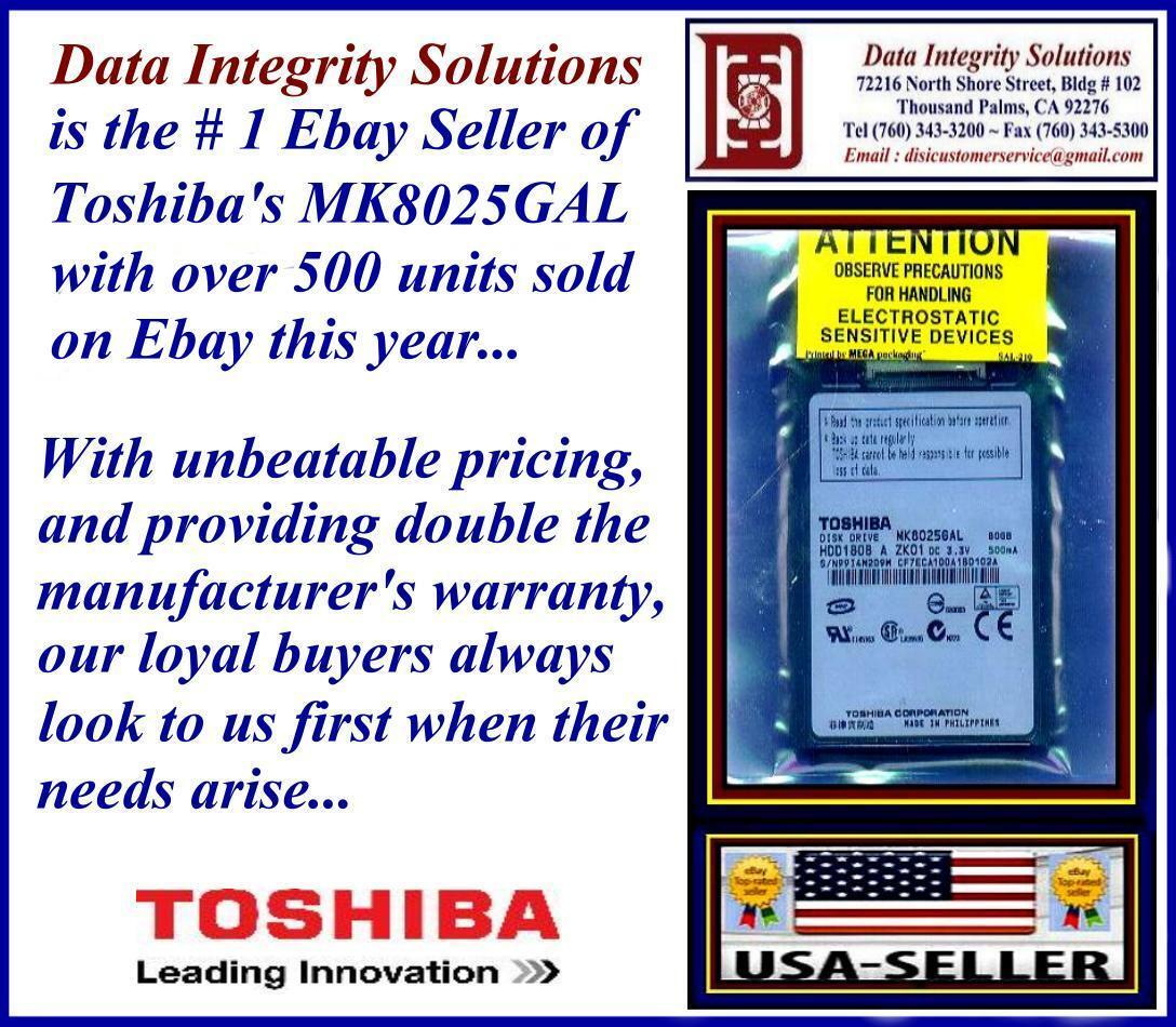 """80gb 1.8"""" Zif Hard Drive For Sony Vgn-ux27sn Toshiba Mk80..."""
