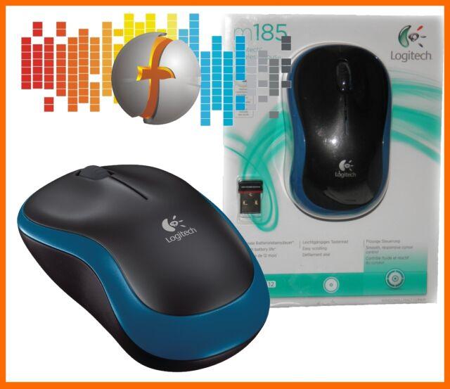 PC-Maus Logitech M185 Kabellos BLAU//  Packetversand  // Funkmaus Wireless Mouse