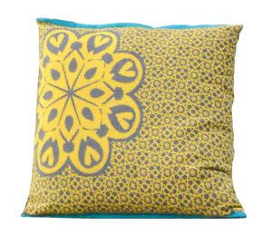 David Fussenegger Kissen Kissenhülle Afrika Blume gelb grau 50 x 50