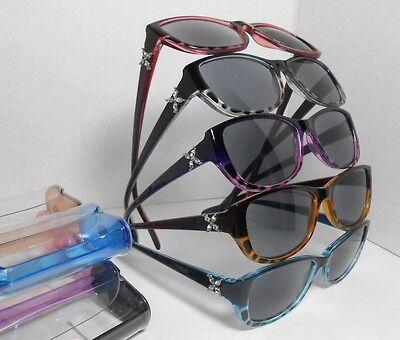 Sun Readers Reading Glasses Rhinestone Butterfly Blue Purple Brown Black Case U8 Black Rhinestone Reading Glasses