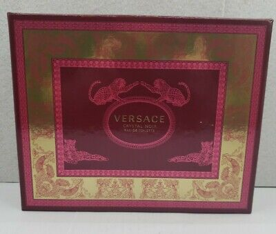 VERSACE CRYSTAL NOIR FOR WOMEN 3PC SET EDT PERFUME SPRAY 1.7 OZ + LOTION + GEL