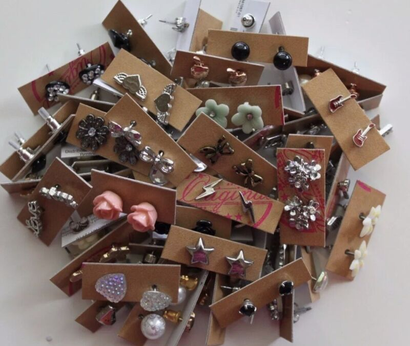 Wholesale lot of 200 Pairs of Assorted Stud Earrings New