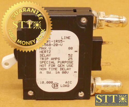 Lmlb1-1rs5-37568-20-v Airpax 20 Amp Alm Mid Trip Bullet Circuit Breaker 80 Vdc