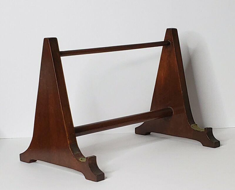 Vintage Wood Desk Tabletop Book Stand / Easel Art Display Stand