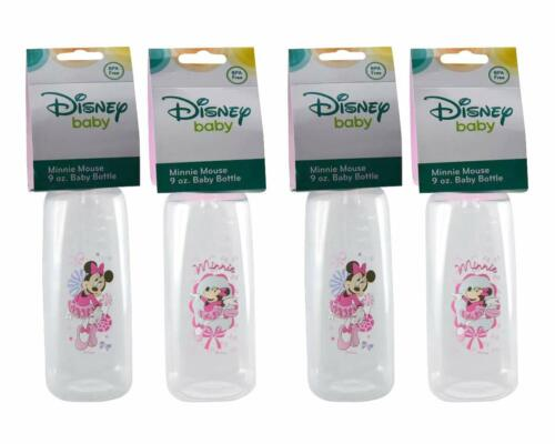 Disney Baby Minnie Mouse (Pink) 9oz Baby Bottles, BPA-Free 4 count.