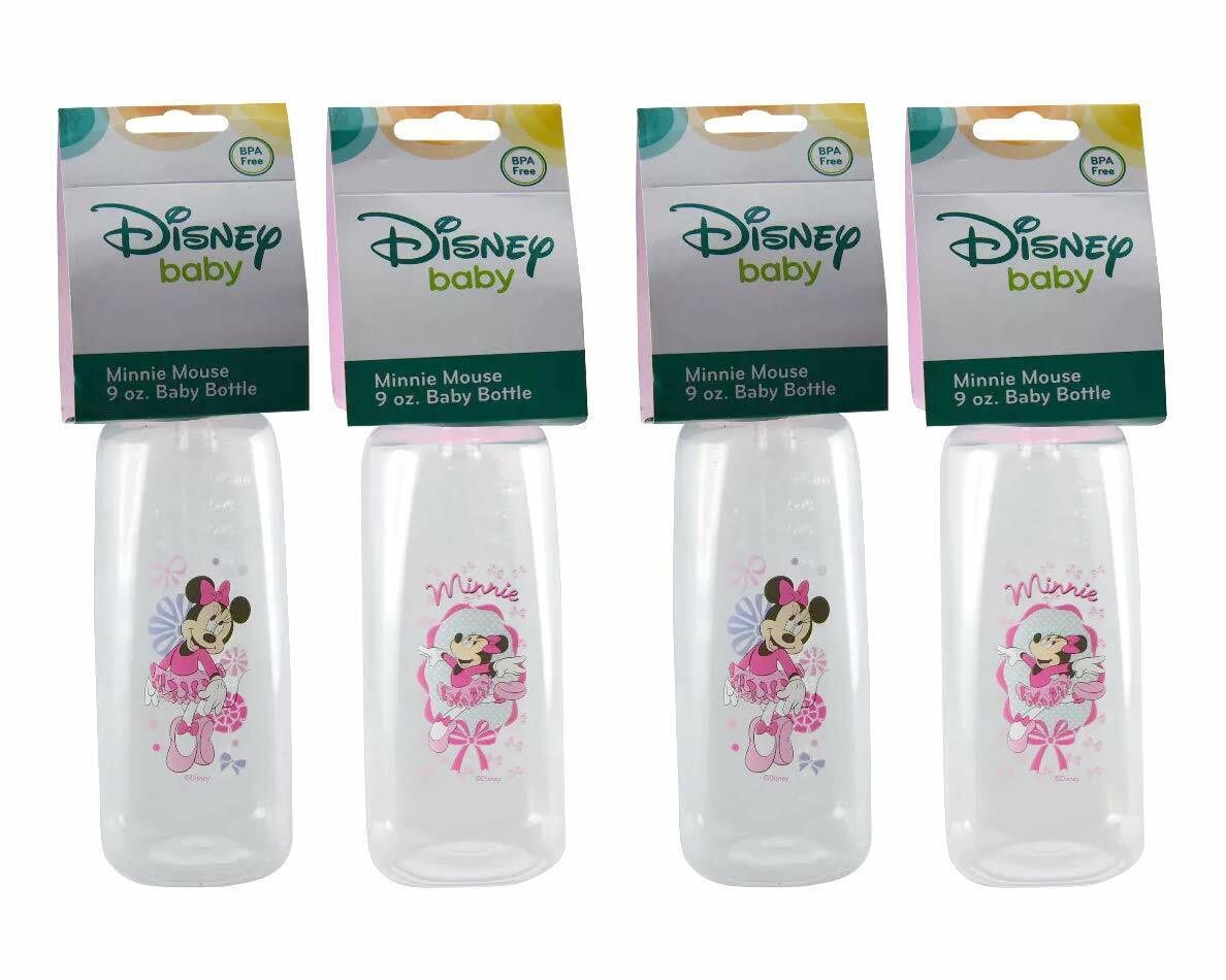 Disney Baby Minnie Mouse Pink 9oz Baby Bottles, BPA-Free 4 Count.  - $9.44