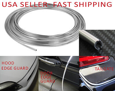 Universal CHROME Door Edge Guard Protector Trim for All Models tailgate hood 5m