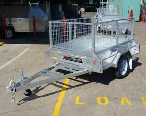 SALE New 7x4 Galvanised Caged Box Trailer For Sale Garden Trailer Coopers Plains Brisbane South West Preview