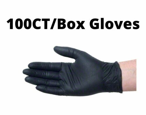 BLACK VINYL GLOVES Powder Free and Non-Latex  Medium / Large / X-Large