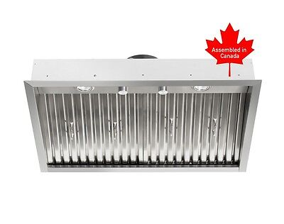"""BUILT IN RANGE HOOD 30"""" WITH ROTARY SWITCHES AND BAFFLE FILTERS, WATCH VIDEO"""