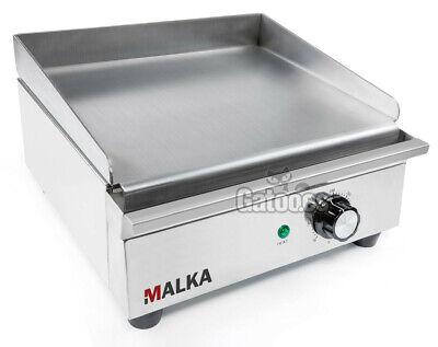 Plancha Eléctrica de Cocina Profesional Malka. Ancho 32 cm.