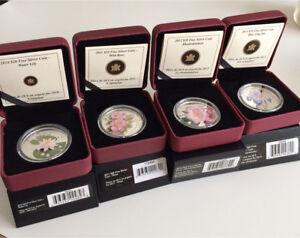 Royal Canadian Mint $20 Flower Coin Collection