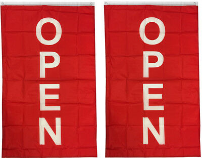 3x5 ft VERTICAL OPEN flag store concession business banner F