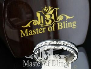 MENS-STAINLESS-STEEL-RING-BAND-SCRATCH-RESISTANT-TARNISH-FREE-TOP-SIDE-ICED-OUT