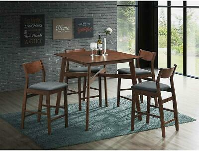 LUCKYERMORE 5 Piece Counter Height Dining Table Set with 4 Bar Stools 5 Piece Counter Height Table