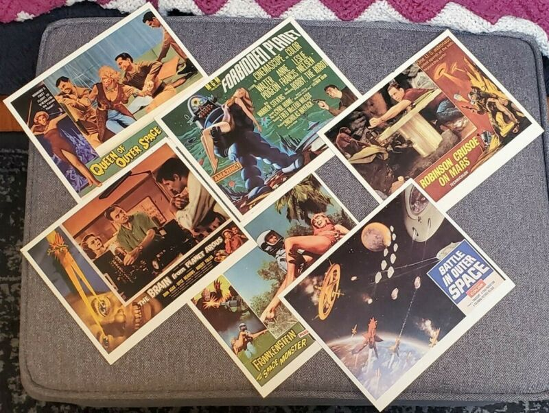 "CLASSIC SCI FI 8"" x 10"" Lobby Cards lot of 6"