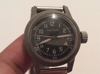 Rare WWII 1946 Waltham 21 Jewels Model 6/0-C Hacking Military Watch Runs!
