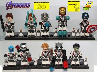 Custom lego 10 minifigures Avengers Endgame Team all new quantum white outfits ](Avengers Outfit)