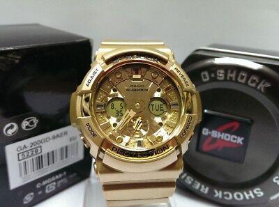 (Casio G-Shock Gold Dial Gold Resin Multifunction Quartz Men's Watch GA200GD-9A)