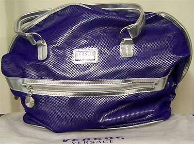 100%AUTHENTIC Ltd Edition VERSACE PURPLE COUTURE Weekend~Gym~Luggage~Travel BAG