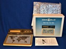 Howard Miller World Touch Time Alarm Desk Quartz clock model 621-229 NIB