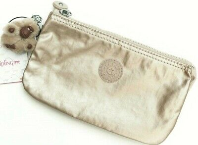 NWT KIPLING CREATIVITY L Pouch Clutch toasty gold