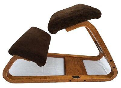 Vintage Bent Oak Brown Kneeling Chair British Design Corp Ergonomic Office