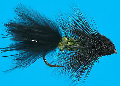 STREAMERS NYMPHS TROUT DRY FLIES 3 EA A-1 BEAD HEAD KIWI MUDDLER BROWN #8