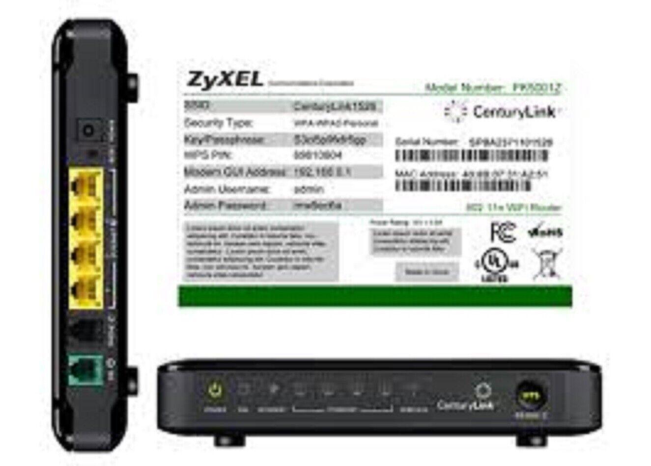***NEW IN BOX! CENTURYLINK APPROVED ZYXEL PK5001Z DSL MODEM