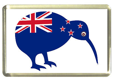 New Zealand  Flag Kiwi Fridge Magnet - Flags