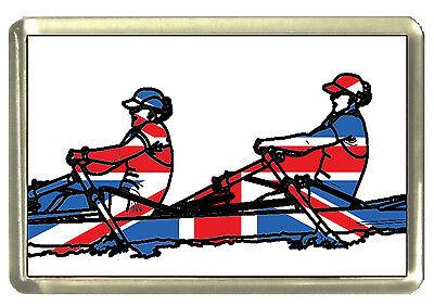 Union Jack Rower Fridge Magnet - Best of British