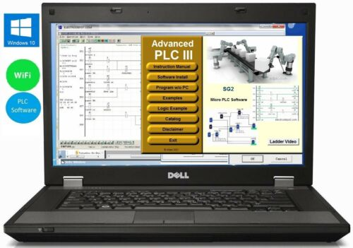 Laptop w Automation Programming Ladder and Logic Software Virtual PLC Controller