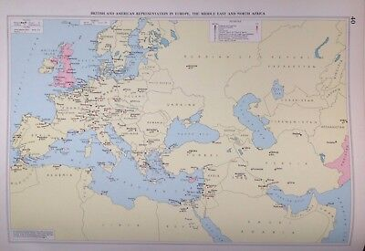British & American Representation Europe, 1952, Mercantile Marine Atlas, Philip