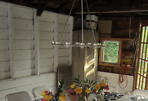 Tealight candle chandelier