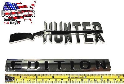 HUNTER EDITION Emblem 3D truck OLDSMOBILE logo decal SUV SIGN old Bumper Badge