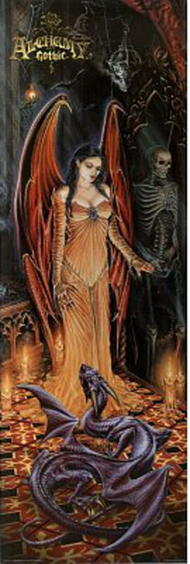 Witness to Rites Dragon Gothic Fantasy Art Aquarius - Long Door Poster 21x62